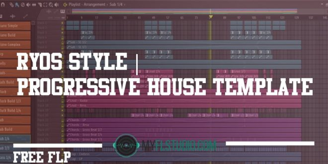 Progressive House Template free flp